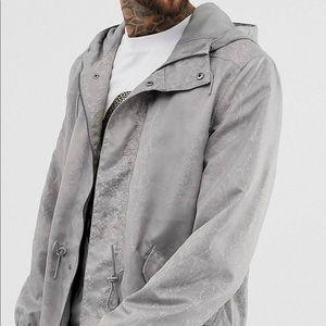 ASOS DESIGN snakeskin parka jacket